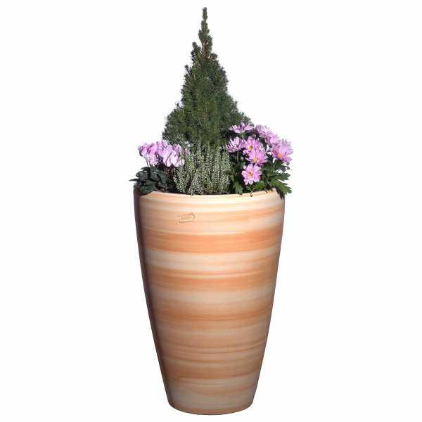 Hentschke Keramik Blumentopf Form 028 in terra-henna