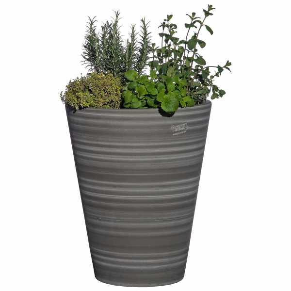 Hentschke Keramik Blumenkübel Form 008 in schiefer-grau