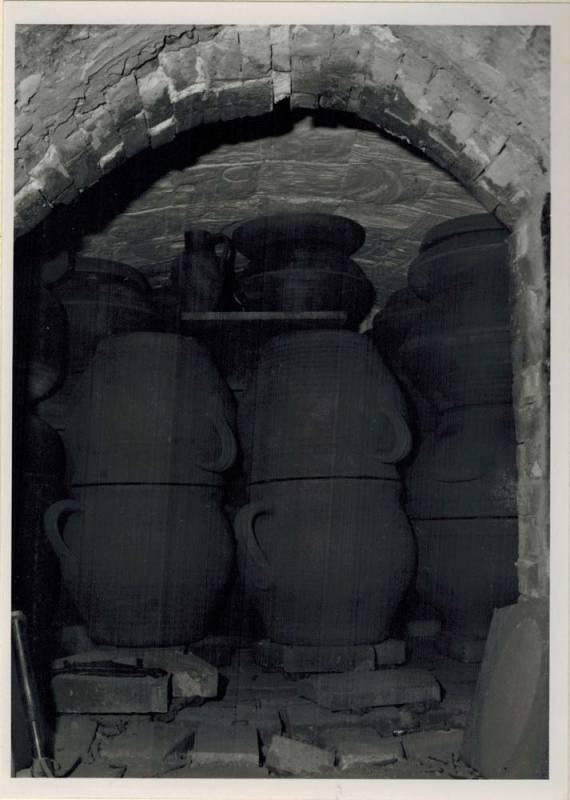 Salzbrand im historischen Keramik Brennofen