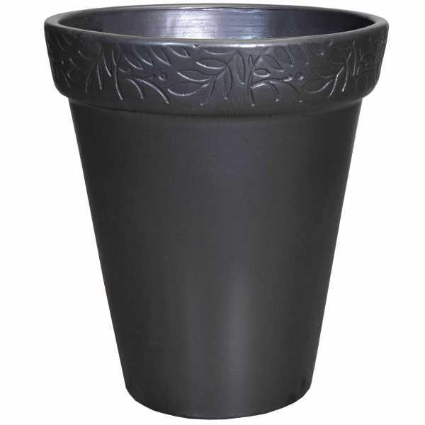 Hentschke Keramik Blumentopf Form 119 in anthrazit