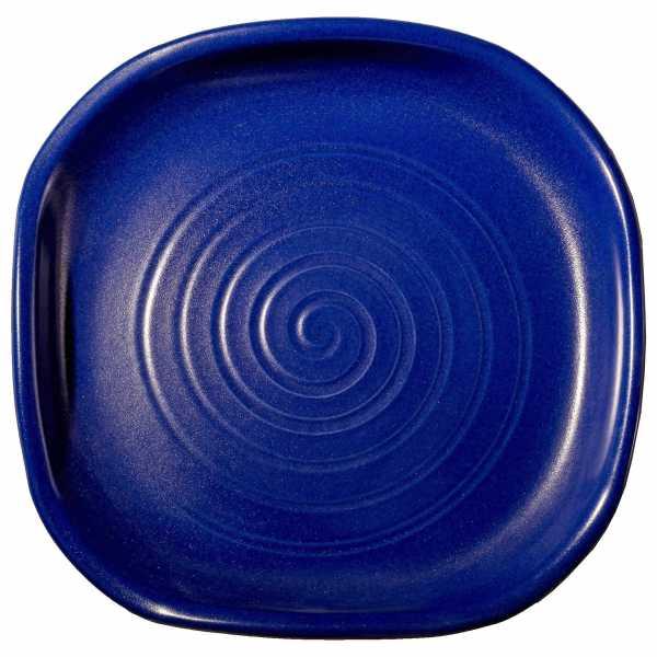 Hentschke Keramik Vogeltränke eckig Form 465 in effekt-blau