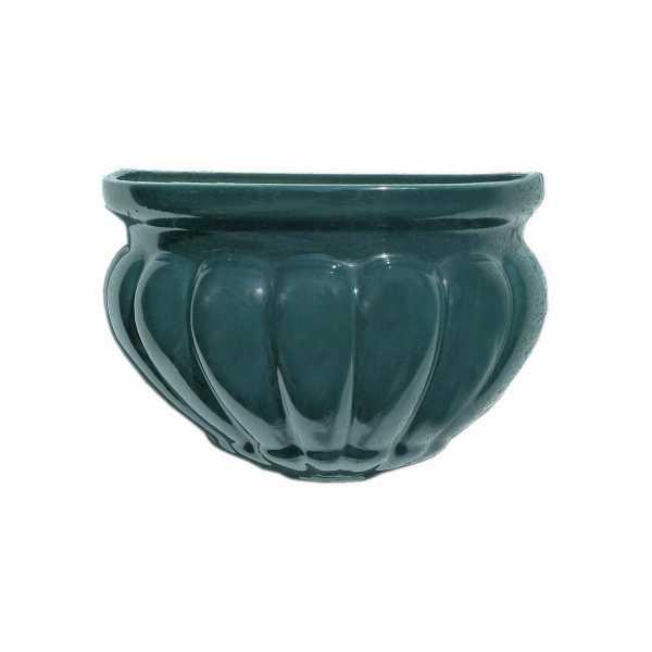 Hentschke Keramik Wandschale Hängeschalel Form 512 Farbe effekt grün