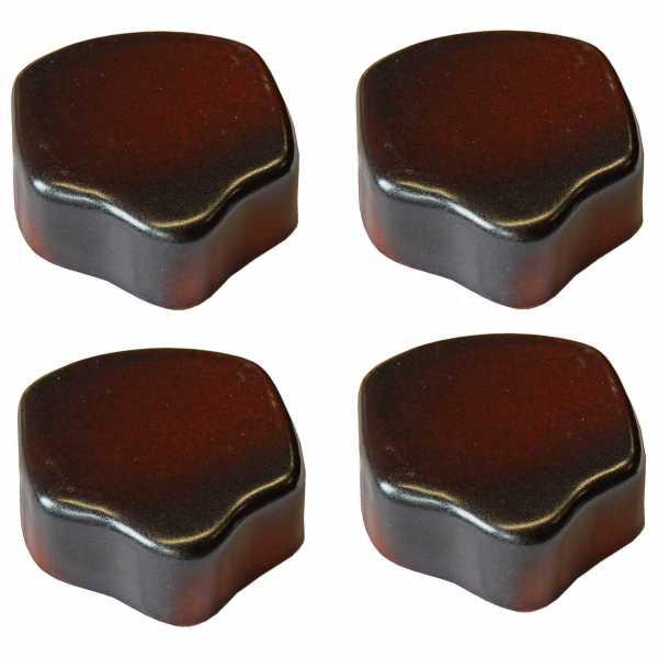 Hentschke Keramik Füsschen Form 004 in effekt-braun