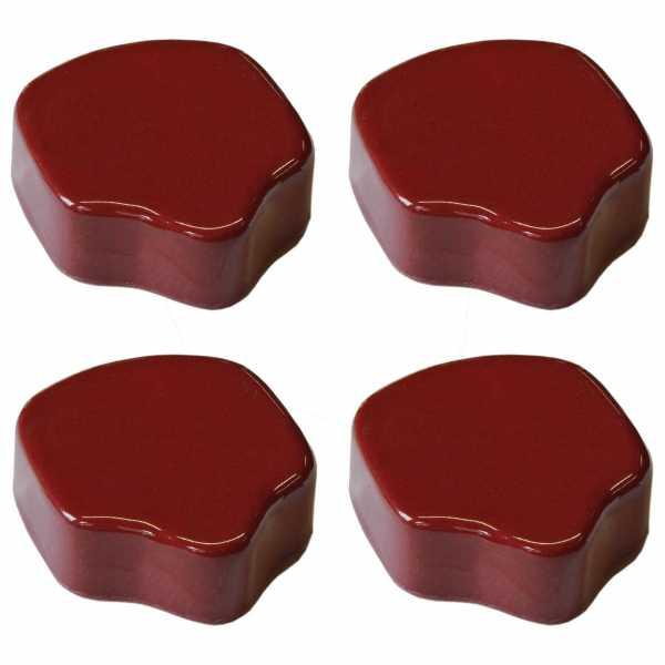 Hentschke Keramik Füsschen Form 004 in rubinrot