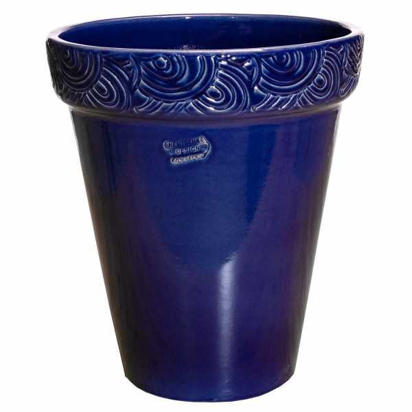 Hentschke Keramik Blumentopf Form 129 in effekt-blau