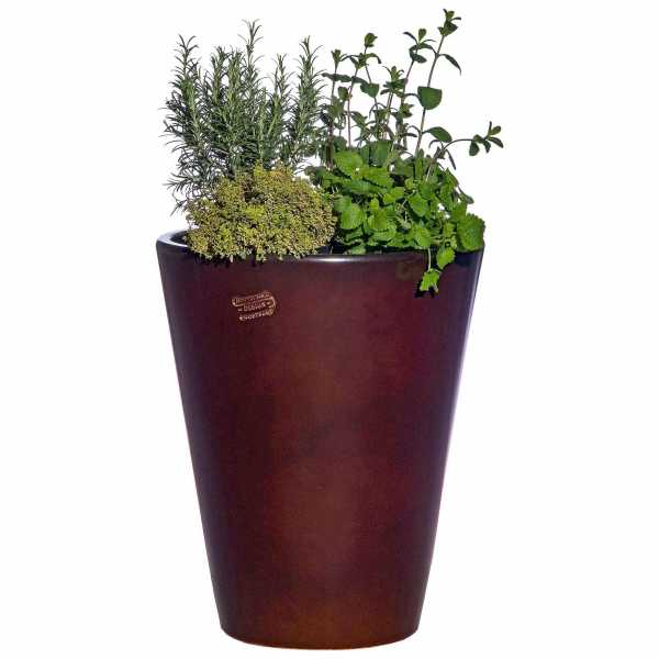 Hentschke Keramik Blumenkübel Form 008 in effekt-braun