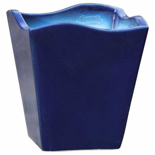 Hentschke Keramik Pflanzgefäß Form 642 in effekt-blau