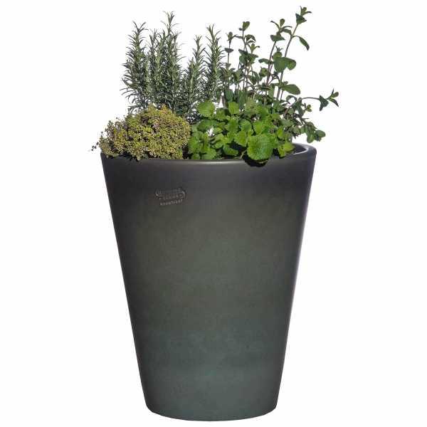 Hentschke Keramik Blumenkübel Form 008 in tropic-grün
