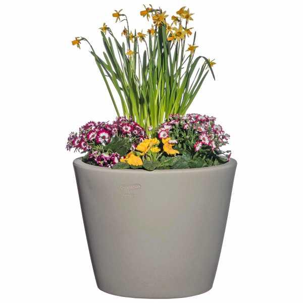 Hentschke Keramik Blumenkübel Form 342 in samtgrau