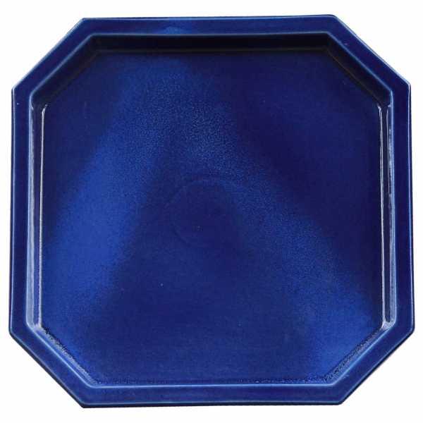 Hentschke Keramik Untersetzer 8 eckig Form 100 in effekt blau