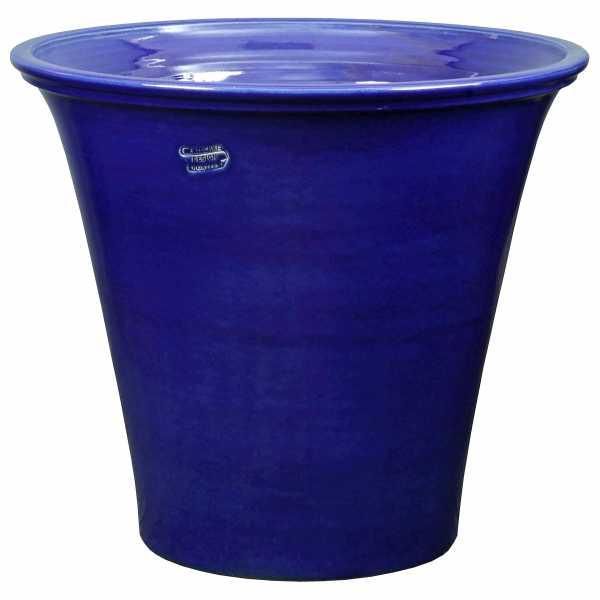 Hentschke Keramik Pflanzkübel Vase Form 389 Farbe effekt blau