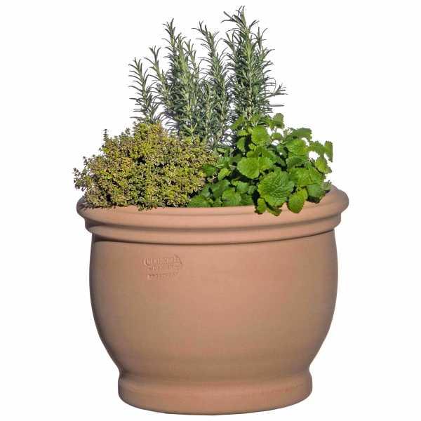 Hentschke Keramik Blumenkübel Form 040 in terra-hell