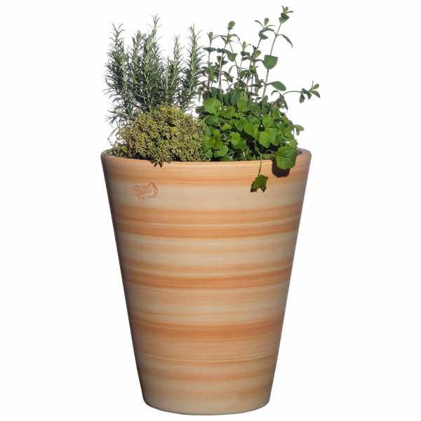 Hentschke Keramik Blumenkübel Form 008 in terra-henna