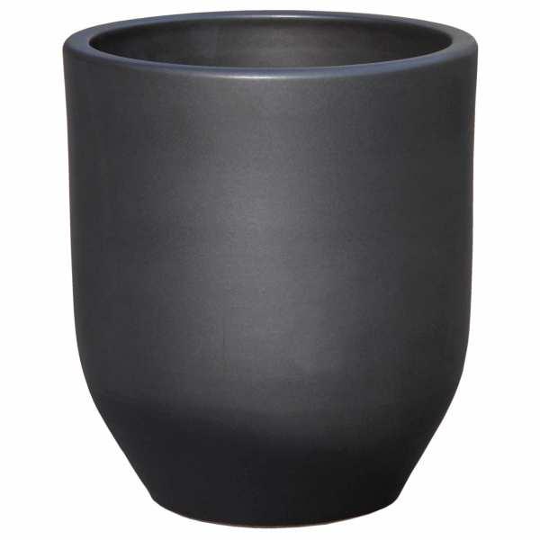 Hentschke Keramik Blumenkübel Form 330 in anthrazit