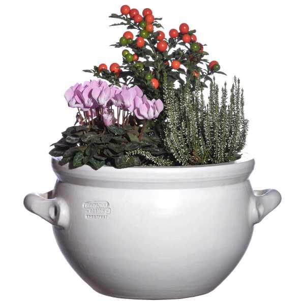 Hentschke Keramik Blumentopf Form 084 in weiß
