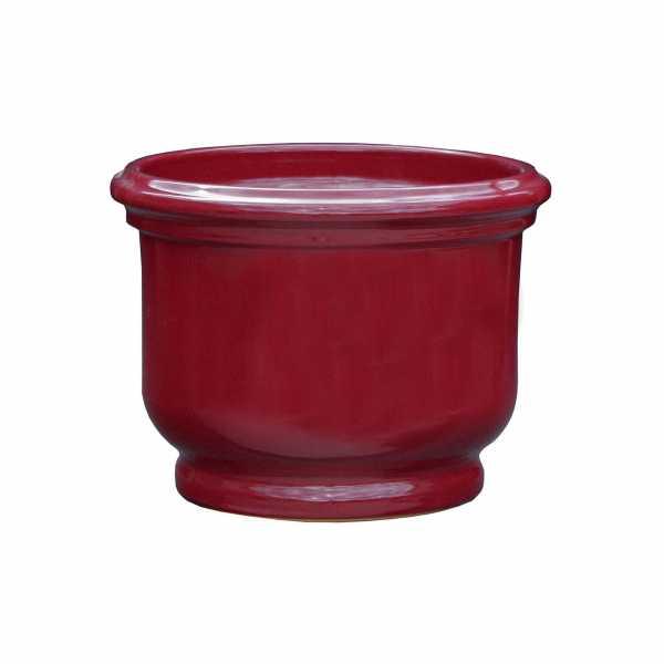 Hentschke Keramik Pflanzkübel Form 048 in rubinrot