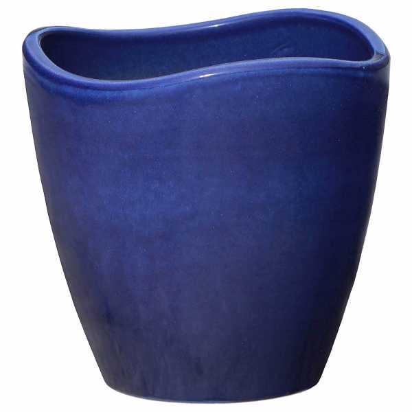 Hentschke Keramik Pflanzkübel Form 629 in effekt-blau