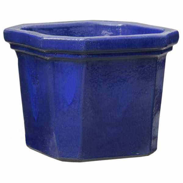 Hentschke Keramik Blumentopf Form 164 in effekt-blau