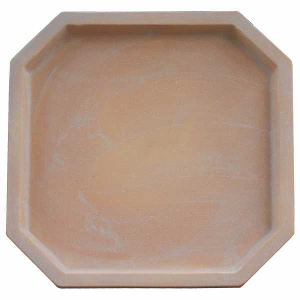 Hentschke Keramik Untersetzer 8 eckig Form 100 in terra hell