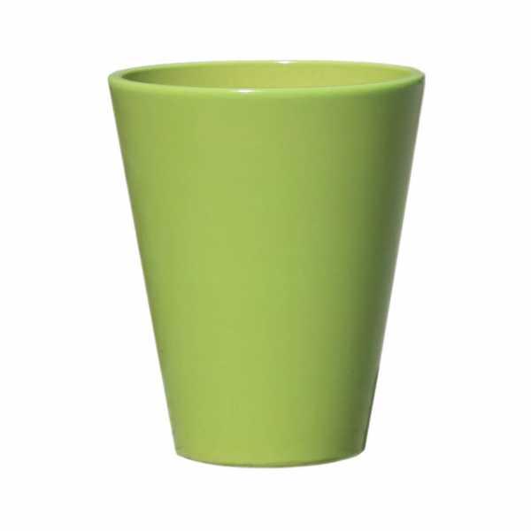Hentschke Keramik Blumenkübel Form 008 in lindgrün