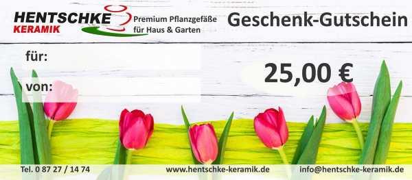 Hentschke Keramik Geschenk Gutschein 25 € Motiv Tulpen