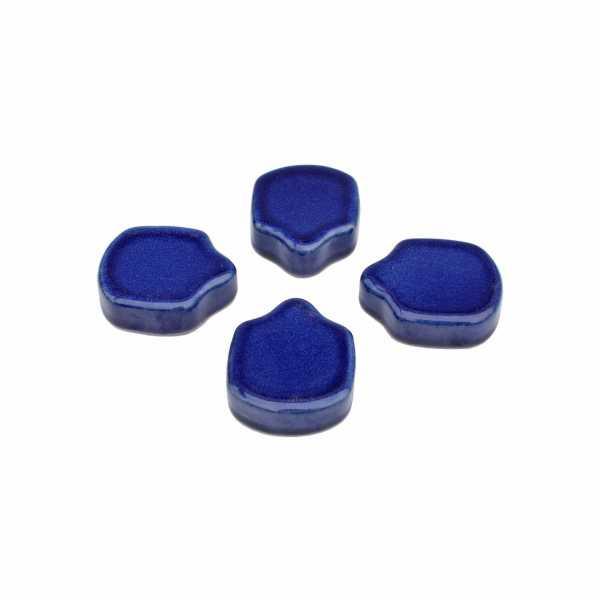 Hentschke Keramik Füsschen Form 004 in effekt-blau