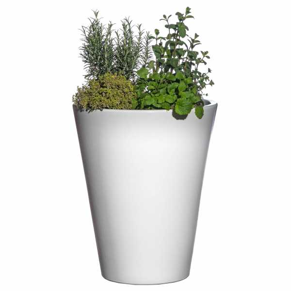 Hentschke Keramik Blumenkübel Form 008 Farbe weiß