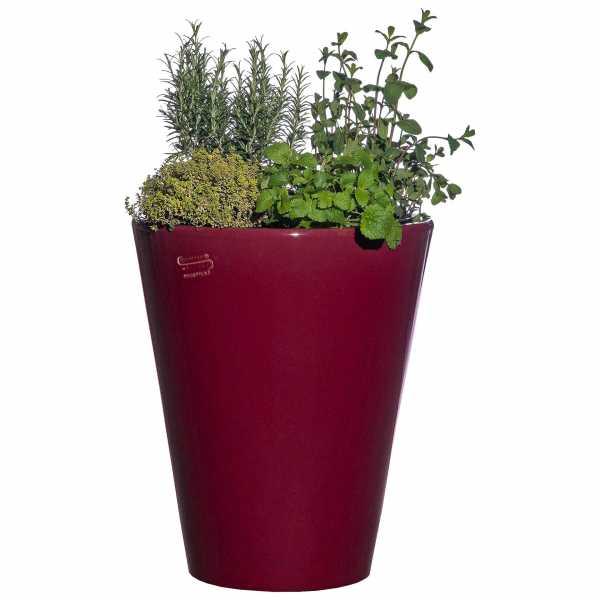 Hentschke Keramik Blumenkübel Form 008 in rubinrot