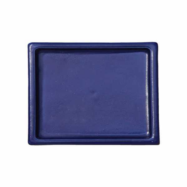Hentschke Keramik Untersetzer Form 100 rechteckig in effekt blau