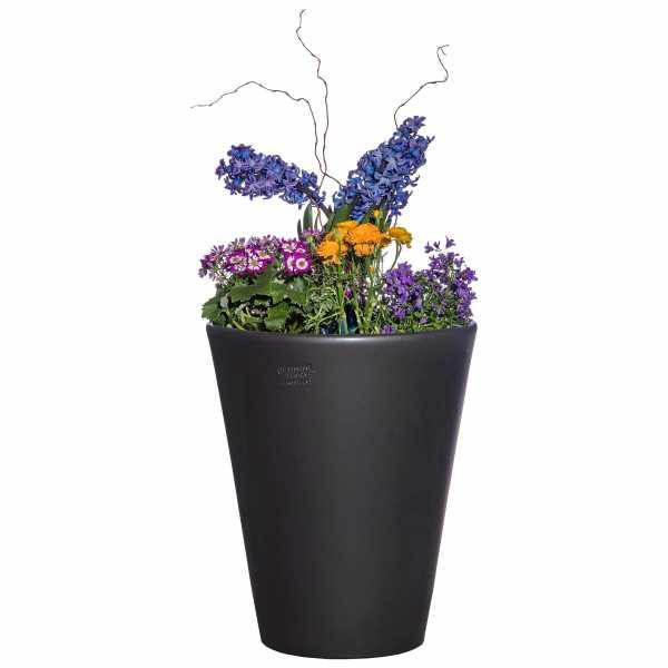 Hentschke Keramik Blumenkübel Form 008 in anthrazit