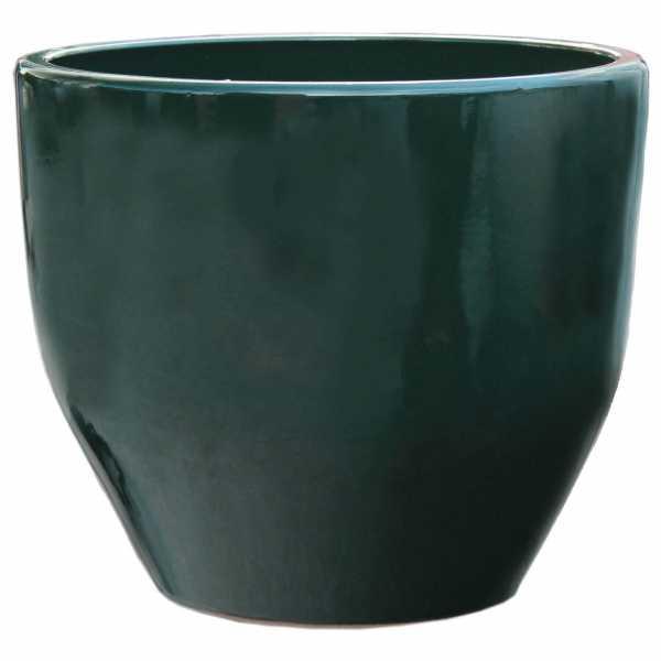 Pflanzgefäß rund - Keramik Modell 122 in oliv grün Hentschke