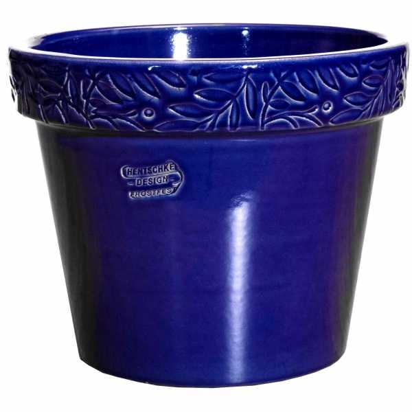 Hentschke Keramik Blumentopf Form 116 in effekt-blau