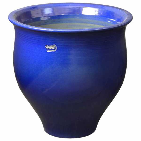 Hentschke Keramik Pflanzkübel Amphore Form 370 Farbe effekt blau