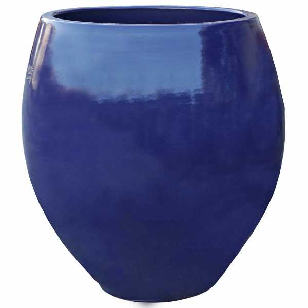 Hentschke Keramik Pflanzkübel Vase Form 372 Farbe effekt blau