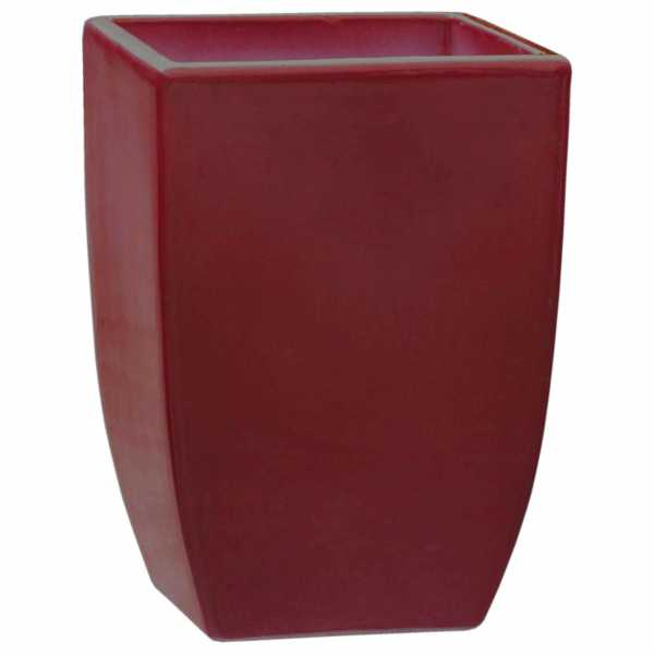 Hentschke Keramik Pflanzgefäß Form 227 in rubinrot
