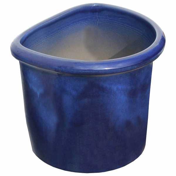 Hentschke Keramik Wandkübel stehend Form 512 Farbe effekt blau