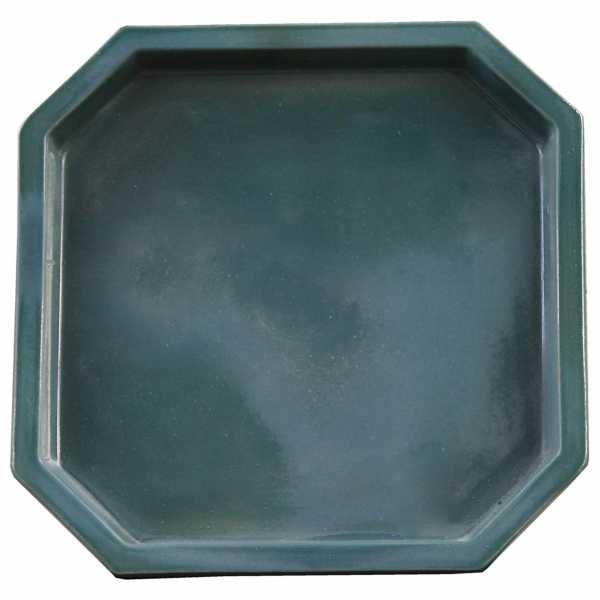 Hentschke Keramik Untersetzer 8 eckig Form 100 in effekt grün