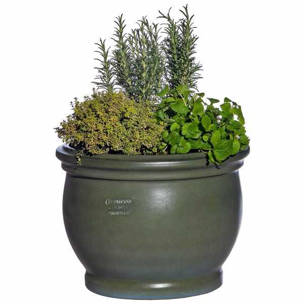 Hentschke Keramik Blumenkübel Form 040 Farbe tropic grün
