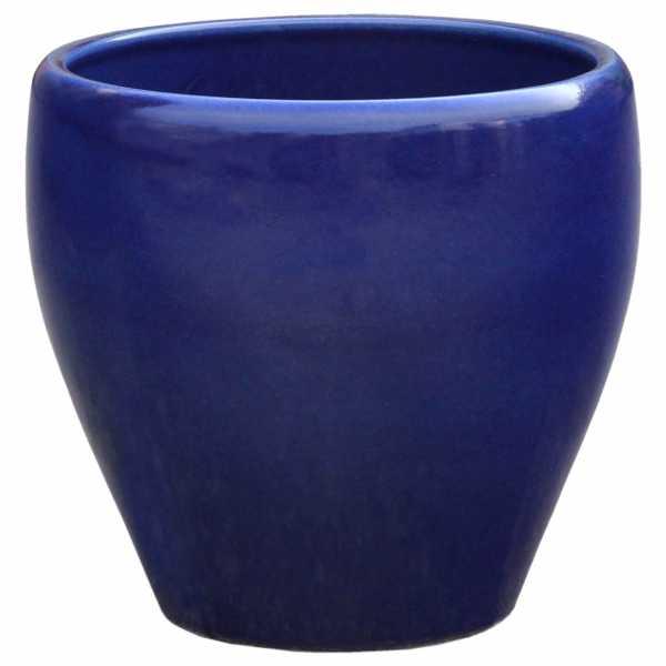 Hentschke Keramik Blumenkübel Form 329 in effekt-blau