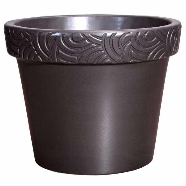 Hentschke Keramik Blumentopf Form 126 in anthrazit