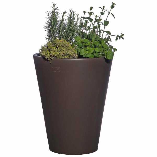 Hentschke Keramik Blumenkübel Form 008 in rauchgrau