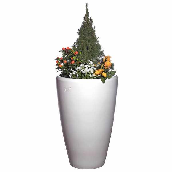 Hentschke Keramik Blumentopf Form 028 in weiß