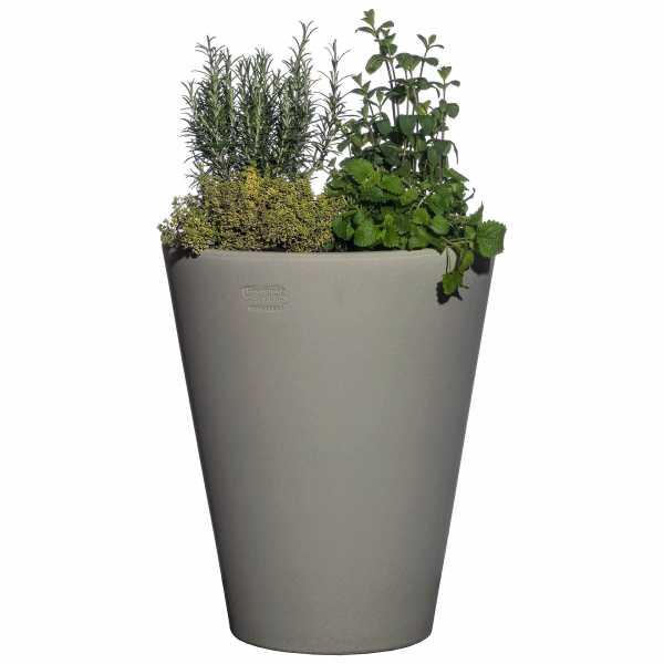 Hentschke Keramik Blumenkübel Form 008 in samtgrau