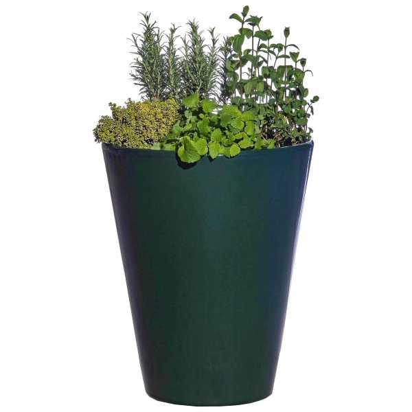Hentschke Keramik Blumenkübel Form 008 in oliv-grün