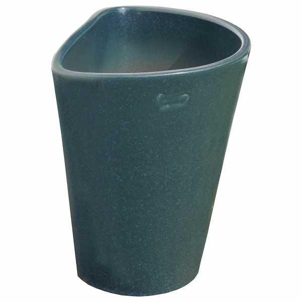 Hentschke Keramik Wandkübel stehend Form 508 Farbe effekt grün
