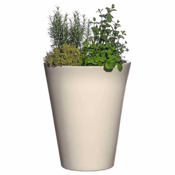 Hentschke Keramik Blumenkübel Form 008 in elfenbein