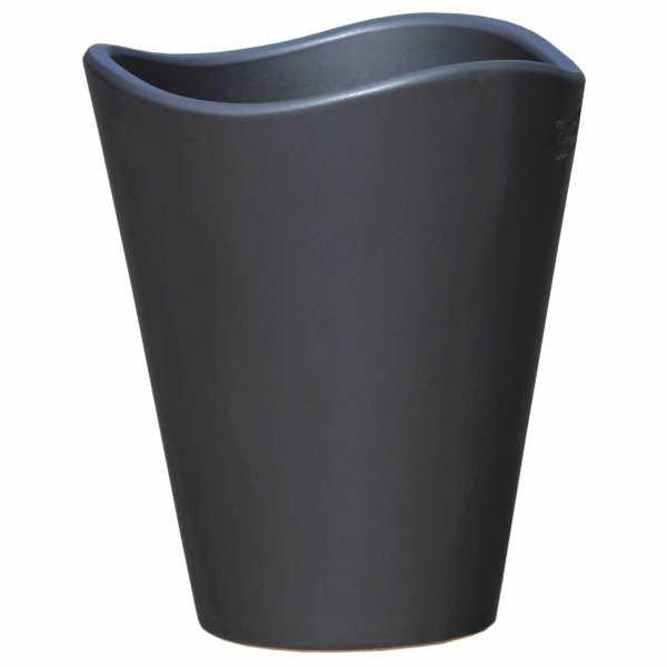Hentschke Keramik Pflanzkübel Form 608 in anthrazit